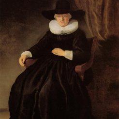Portret deur Rembrandt van Maria BOCKENOLLE, Sara VAN DER SCHULP se ouma aan moederskant. Sara trou met die stamvader Dirk COETZEE.